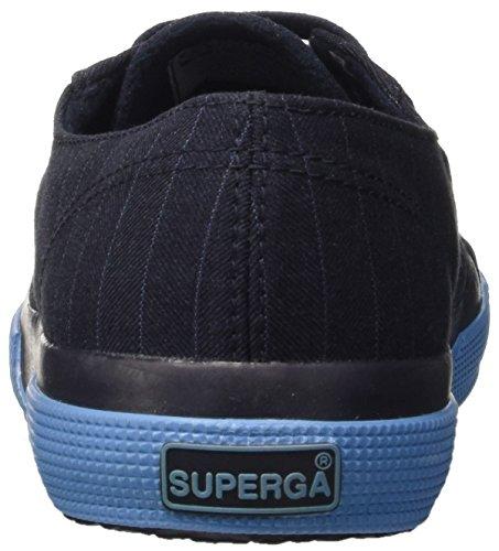 Superga 2750-fabric Pinstripefglm, Pompes à plateforme plate homme Bleu