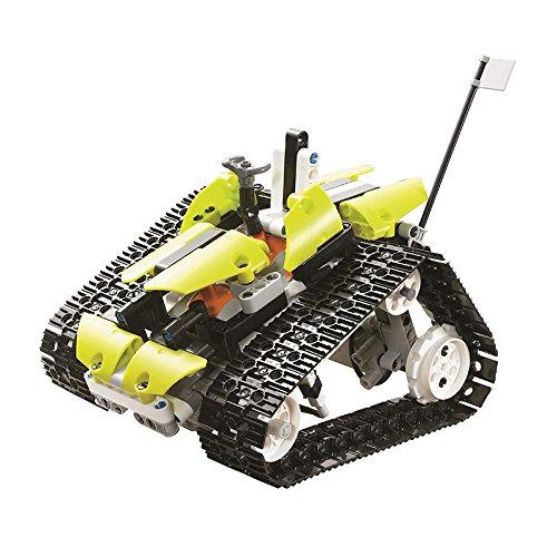 RCTecnic Kit Construcción Tanque Teledirigido, 5 Vehículos en 1 | Coche rc Radiocontrol para Montar con Batería Recargable | Juguetes Control Remoto Educativo para Niños, 402 piezas