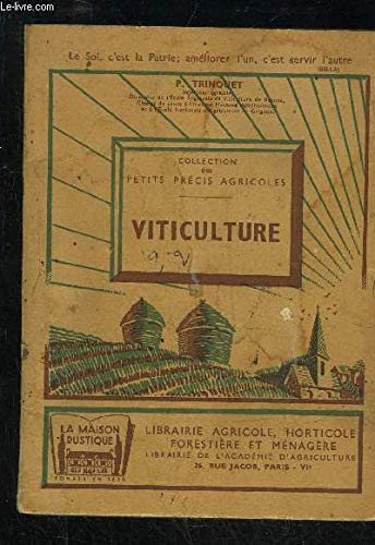 VITICULTURE par P.TRINQUET