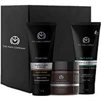 The Man Company Cleanse & Moisturise Pack (Charcoal Face wash + Charcoal Scrub + Moisturising Cream)- Set of 3   Made in…