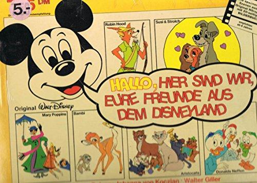 Walt Disney Original / Hallo, hier sind wir, Eure Freunde aus dem Disneyland / Robin Hood / Susi & Strolch / Mary Poppins / Bambi / Aristocats / Donalds Neffen / Cinderella / Die Hexe und der Zauberer / Dschungelbuch / 1978 / Klapp-Bildhülle mit 20seitiger Original Einheftunf und bedruckter Original Innenhülle / Disneyland 0900.081 0900081 / Deutsche Pressung / 12 Zoll 30cm Vinyl Langspiel Schallplatte LP - Keine CD /