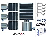 JAKABA Premium Quality Wenge Finish Stainless Steel and Alloy Curtain Finials with Heavy Supports - PACK of 8 Pcs. (Finials : 4 Pcs + Supports : 4 Pcs) : Curtain Brackets Set / Holders for Window / Door - JKB32102WG