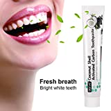 Whitening Zahnpasta , ZUTOBO Charcoal Zahnpasta Activated Charcoal Teeth Whitening Toothpaste, Intensivreinigung zahnpastatube Whitening Zahnpasta,Schlechten Atem und Zahnflecken entfernen, Zahnaufhellung Zähne(120g) Kokosnuss