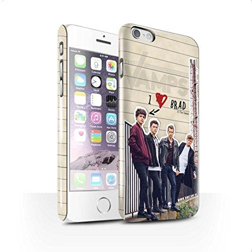 Officiel The Vamps Coque / Clipser Brillant Etui pour Apple iPhone 6 / Pack 5pcs Design / The Vamps Journal Secret Collection Brad