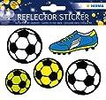 Herma Reflektor-Sticker permanent haftend, 5 Leuchtaufkleber pro Packung