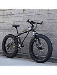 WN-PZF Bicicleta de 7 velocidades, Estudiante Adulto, Deportes al Aire Libre, Bicicleta de montaña, Bicicleta de Nieve, Ruedas ensanchadas de 4 Pulgadas + Sistema de Freno de Disco