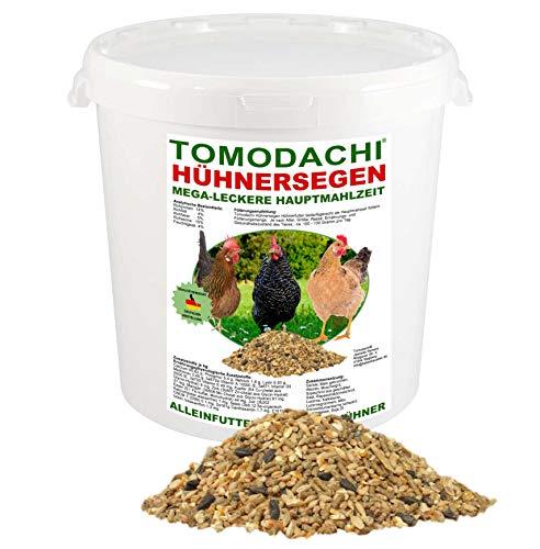 Hühnerfutter, Vollwertfutter Huhn, Komplettnahrung, Naturprodukt, artgerecht, calziumreich, für dickschalige Eier, reich an Omega-3 Fettsäuren, natürlicher Immunschutz, deutsche Qualität 2kg Eimer
