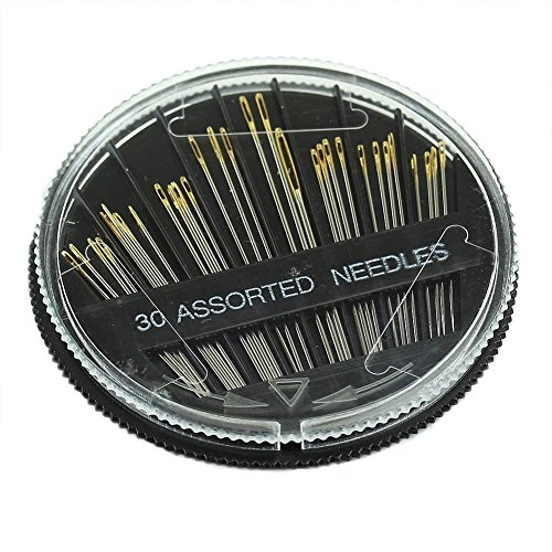 Preisvergleich Produktbild LUFA 30PCS Verschiedene Hand Nähnadeln Stick Mending Craft Quilt nähen Fall für Leder,  Jeans,  Seide,  Leinen,  Baumwolle Metall Silber