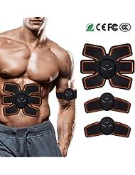 LOXIN Electroestimulador Muscular Abdominales Cinturón,Masajeador Eléctrico Cinturón con,EMS Ejercitador del Cuerpo de