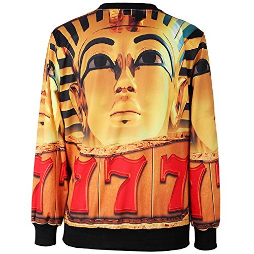 THENICE Femme manches longues Sweat-shirts - Golden Sphinx