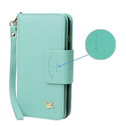 Hülle für Samsung S3, xhorizon FX Prämie Leder Folio Case [Brieftasche][Magnetisch abnehmbar] Uhrarmband Geldbeutel Flip Vogel Tasche Hülle für Samsung Galaxy S3 i9300 mit einer Auto Einfassungs Halte Minze mit Kugel Auto Einfassung Halter
