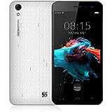 Homtom HT16 Smartphone Libre, 3G Teléfonos Inteligente(5.0 Pulgadas/ HD 1280* 720pixels Pantalla, 1GB RAM + 8GB ROM, Android 6.0, 8.0MP Cámara Trasera + 5.0MP Cámara Frontal, Bluetooth 4.0, Dual SIM), Blanco