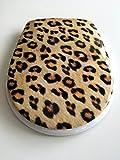 Duroplast WC Sitz Klobrille Leopard mit Edelstahlscharnieren