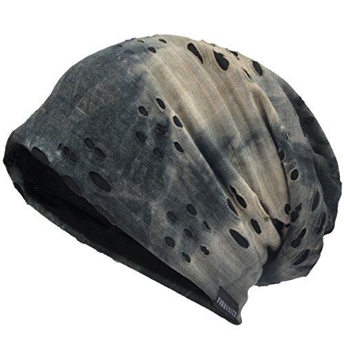 VECRY Herren Jersey Slouch Mütze Sommer Skullcap (B-Grau, Dünn Cool)