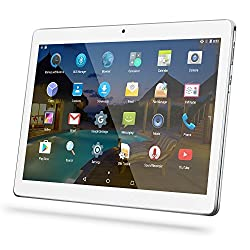 YUNTAB Tablet Pc 10.1 Zoll Tablet 3g- Android 5.1 Lollipop - Telefonieren - GPS- Navigation - Google Play - 1GB RAM - 16GB - Dual Kamera- Battery 5000 mha - Bluetooth 4.0 (Silber)