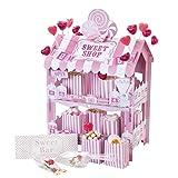 Talking Tables Street Stalls; Zweistöckiger Zuckerlgeschäftstand für Geburtstage, Hochzeiten und Party, Pink
