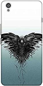 Snoogg Black Scavenger Solid Snap On - Back Cover All Around Protection For O...