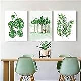 Escandinavo Decorativo Salón Moderno Simple Restaurante Arte Fresco Planta Verde ( Tamaño : 40*60*2.5cm )