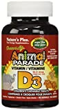 Nature's Plus, Source of Life, Vitamin D3, Animal Parade, 500 IU, Natural Black Cherry Flavour, 90 Animals from Nature's Plus