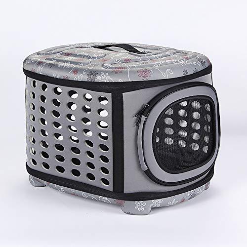 BESTUNE Transporttasche für Haustiere, Hundebox Katzentransportbox, Faltbare Transportbox Katzen und Hunde, Klappbare Hundetransportbox, Reisebox mit Weicher Decke und Seitlichem Einstieg