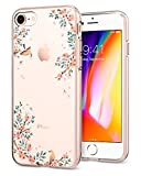 Spigen (054CS22290 Coque iPhone 8/7, [Liquid Crystal] Fleur Rose Premium Semi-Transparent [Shine Blossom Nature] Soft Coque pour iPhone 7/8