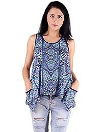 Gugg Women's Self Design TOP [GS16A35_BLUE]