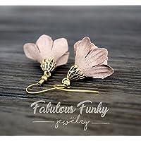 Stoffblumen Ohrhänger