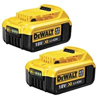 DEWALT DCB182 18V 4Ah XR Li-Ion Battery (Pack of 2)