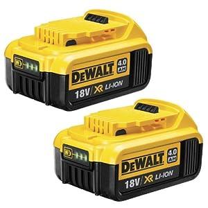DEWALT DCB182 18V 4Ah XR Li-Ion Battery (Pack of 2)