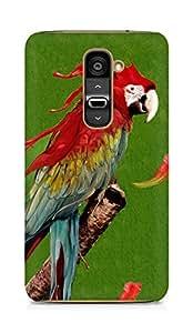 Amez designer printed 3d premium high quality back case cover for LG G2 (Color Parrot)