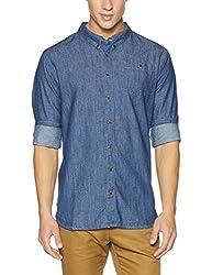 Tommy Hilfiger Mens Casual Shirt (8903876634091_A5ATW151_Small_Brooklyn Faded Blue)