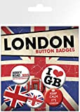 GB eye LTD, London, Keep Calm, Badge Pack, Aluminum, Multi-Colour