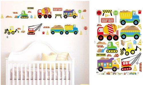 Adesivi murali auto e camion bambini, ragazzo & piccola principessa, adesivi murali camera da letto arredamento camera da letto wall stickers cars & trucks