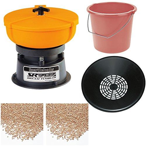 Tumbler (smartreloader Kit komplett für die Reinigung der Bossoli, mit Tumbler SR787, Trenn-Streu, Eimer für Sammeln Die Streu, 2kg von Streu für die Reinigung und 2kg-Streu für die Polieren von Bossoli und Metallteile)