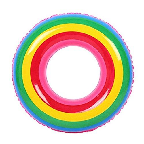 DMGF Flotador Inflable Piscina Flotador Arco Iris Válvulas Rápidas Tumbonas Verano Agua Deporte Diversión Balsa Tubo Playa Al Aire Libre Fiesta De Juguete para Adultos Niños,XL