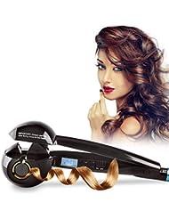 Kosee Beauty Professionnel Fer à Boucler Fashion Curl à Ecran LCD de Styliste en Céramique Automatique Outil de Coiffure Noir