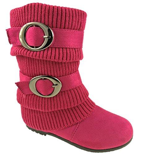 Anna ,  Mädchen Biker Boots , rosa - fuchsia - Größe: 36 EU