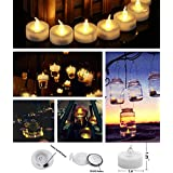Goyal TL-1BT LED Flameless YELLOW Tea Light Candles With Extra Batteries (SET OF 24)