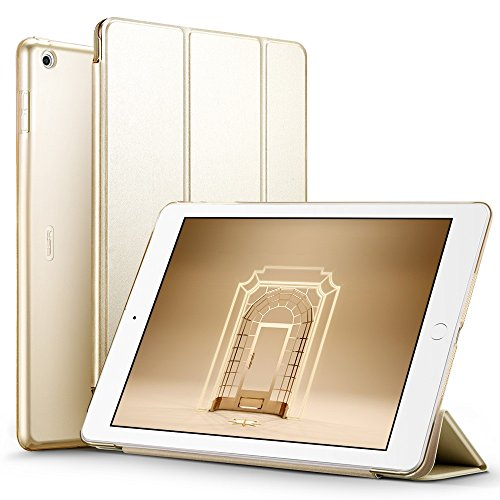Delhisalesmart-DSM-IPAD-GOLD-1N-PU-Leather-Smart-Cover-Case-Magnet-with-wake-upsleep-option-for-New-iPad-97-inch-2017-Golden