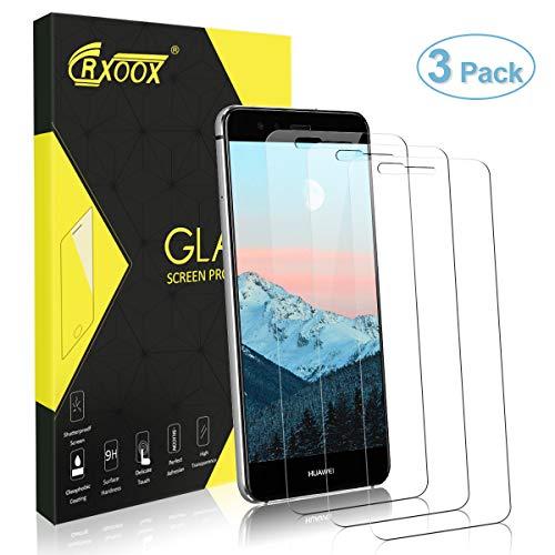 CRXOOX 3 Stück Panzerglas Schutzfolie für Huawei P10 Lite, 9H Härte 3D Touch Kompatibel Blasenfrei Einfache Montage Panzerglasfolie Displayschutzfolie für Huawei P10 Lite Transparent