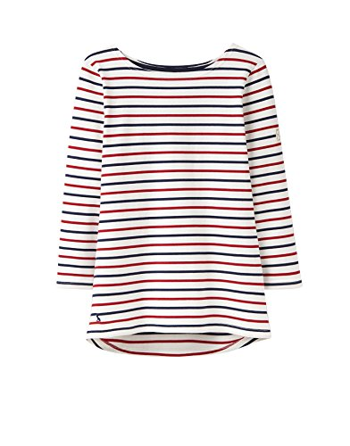 Joules Harbour Top - Cream Red Navy Stripe