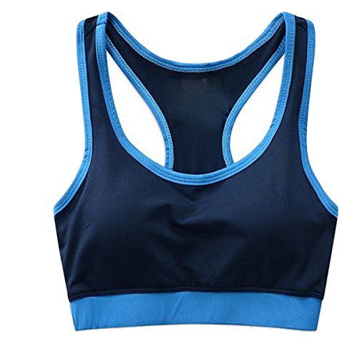Hsnnyqt Reggiseno Sport Ms Moda Yoga Traspirante Lady Gilet Reggiseno Rassodante Blue