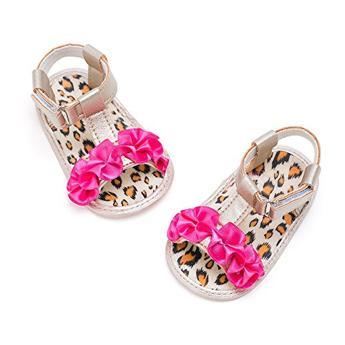 Sandali per neonati, Longra Scarpe da bambino fiore Rosa Caldo