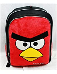 Angry Birds Full Sized Backpack: Red Bird With A Fuzzy Front