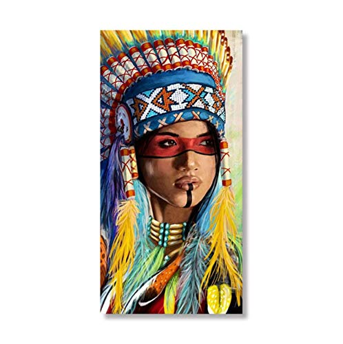 Malen Nach Zahlen Kunst Malen Nach Zahlen Große Malerei König DIY Malerei Charakter National Indischen Traditionellen Kostüm ()
