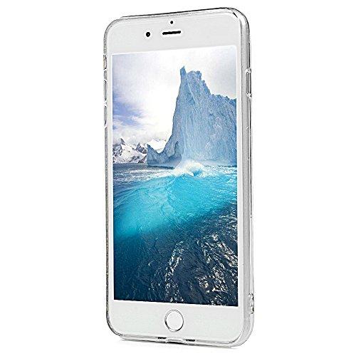 iPhone 7 Plus Cover Silicone e Bling Glitter Brillanti, iPhone 8 Plus Custodia Morbida TPU Flessibile Gomma QuickSand Stella - MAXFE.CO Case Sottile Cassa Protettiva per iPhone 7 Plus / iPhone 8 Plus  Viola