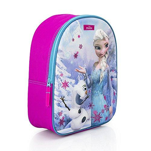 Galleria Farah1970–Rucksack Frozen Elsa und Olaf 3d Rucksack Junior Disney Frozen (31cm x 27cm x 10cm)–Anna Elsa–Gemacht mit Lizensiert (Galleria Grünen Teppich)