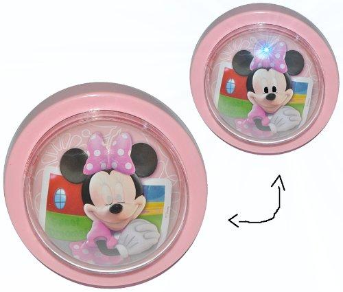 sney Minnie Mouse / magisches Licht LED Schlummerlicht mit Schalter - Nachtlampe Lampe für Kinder mit Batterie Mickey Maus ()
