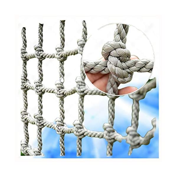 "Cargo Climbing Net,outdoor Cargo Fixed Rope Nylon Netting Mesh Giant Duty Heavy Deck Nets the Older Kids Adult Playground Tree Climbing Swing Chair Netting for Racecourse Fence Decoration Railing Net XXN ❤Auxiliary image display uses only scene reference,the main picture color is main.The safety net has a diameter of 12mm(15/32"") and a mesh size of 10cm(3.94""). The mesh edge is strengthened, the mesh is even, the pulling force is strong, the sunscreen, the weatherproof, the firm and the wearable. ❤The rope net is mainly used for climbing, not only for ordinary children and adults, but also for balconies, stairs, pets, children, gymnasiums, playgrounds, gardens, schools or sports clubs, and isolating truck cargo. It prevents objects from falling and ensures the safety of pets, children, etc. ❤Safety Tip: Regularly check the safety net for safety hazards caused by various external or human factors to protect safety. 1"