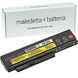 Batteria MaledettaBatteria per IBM Lenovo ThinkPad X220 X220i X220s X230 SOSTITUISCE 0A36281 0A36282 0A36283 0A36307 (6 Celle 5200mAh 10,8-11,1 V Nera)